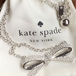 New Kate Spade Crystal Inset Bow Necklace 🎄🎁